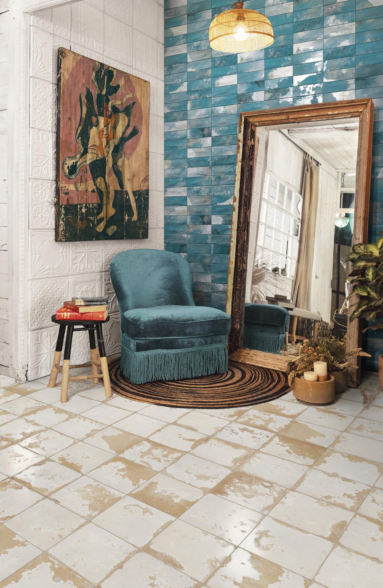 Decoración con pavimentos de Gres 45x45 estilo Vintage Heritage