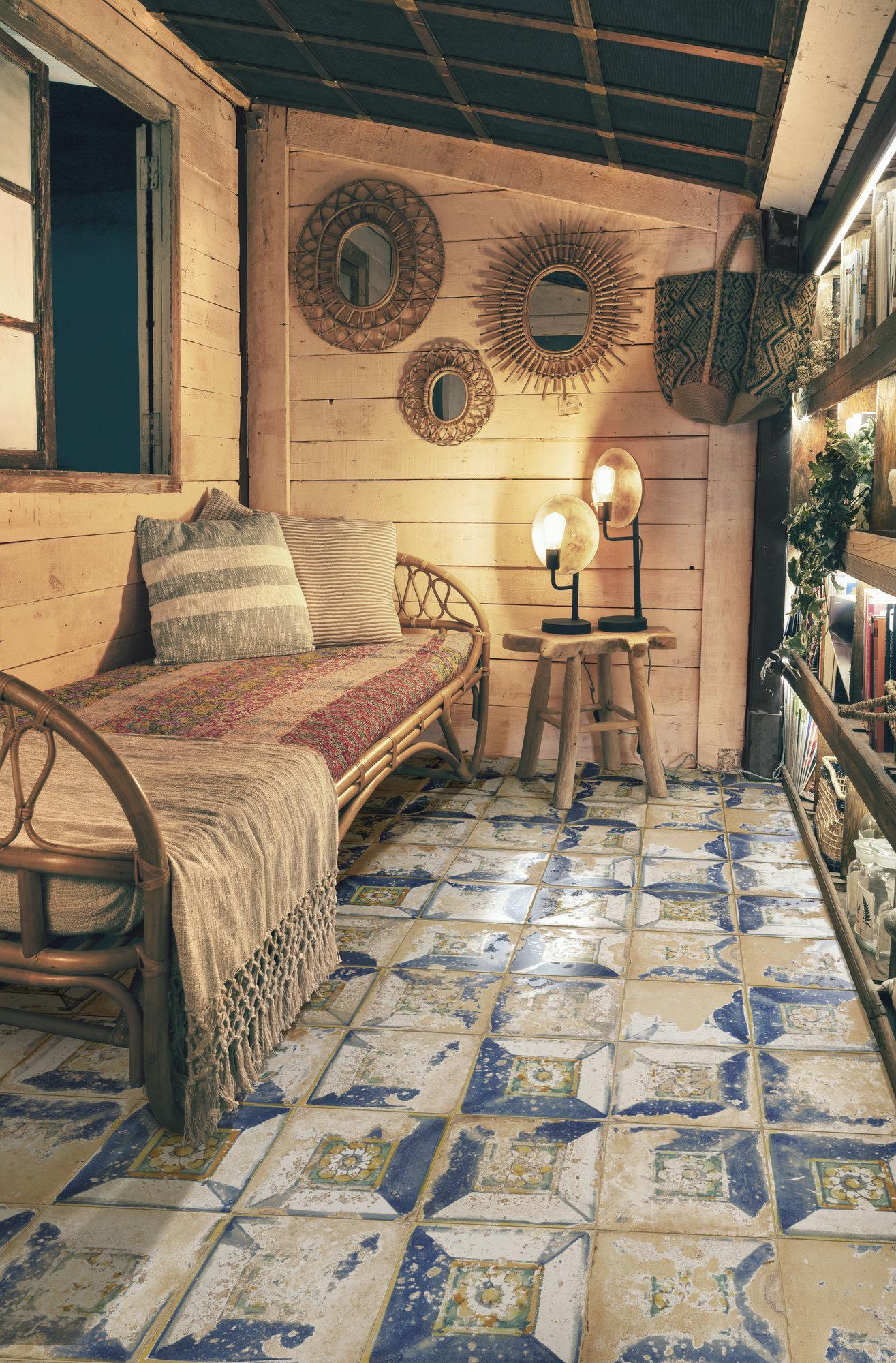 Ambiente con pavimentos de Gres 45x45 estilo Vintage Heritage