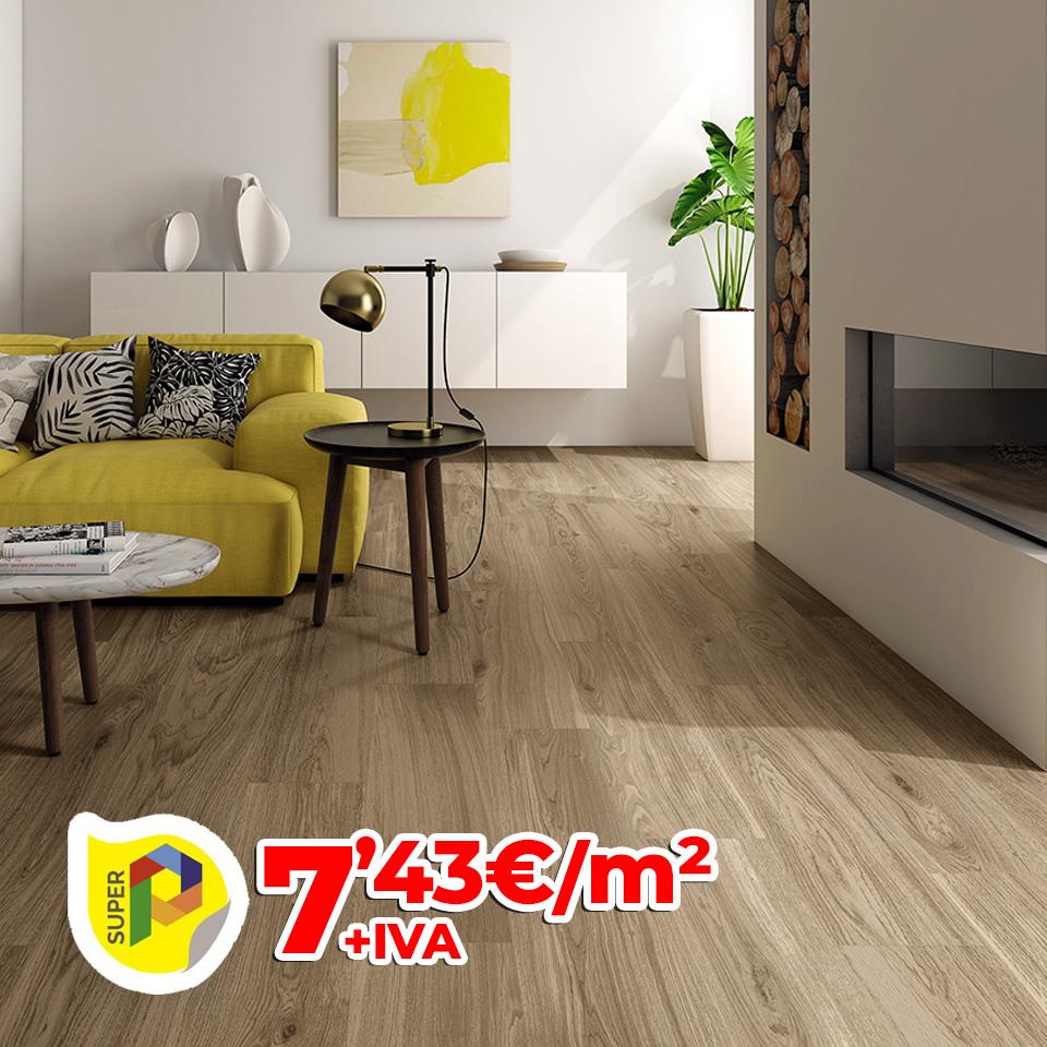 Pavimento pasta roja imitación a madera - 23x66 cm