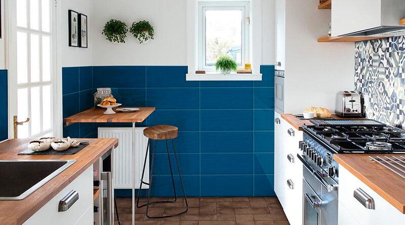 Azulejos y pavimentos azul marino
